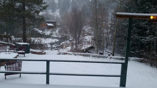 Peaceful Valley Resort and Conference Center: From the window in the game room after a spring snow