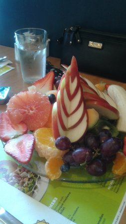 Delicious fresh fruit and smoothie
