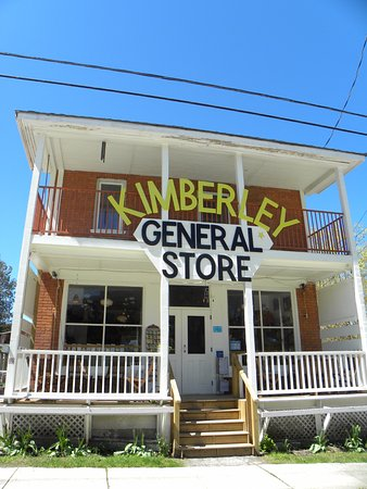 Kimberley General Store: The sign on the front of the store.