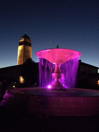 Unity Village Hotel and Conference Center: Tower and fountain