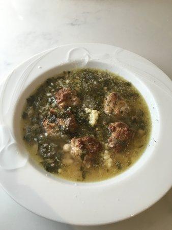 Lambertville, NJ: Escarole soup with mini meatballs & Pastina