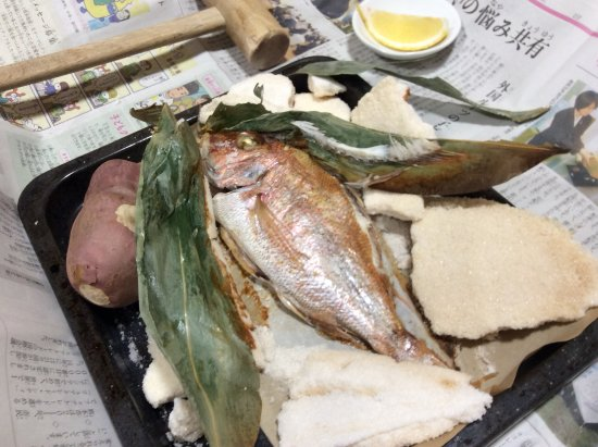 Minshuku Iruka Kan: 鯛の塩釜焼
