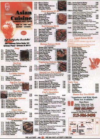 asian cuisine chinese restaurant 200 se gateway dr in ForAsian Cuisine Grimes Ia
