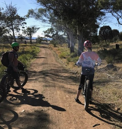 Dunalley, Australia: Beatiful day on the bikes riding across a farm that protects nature on private land.