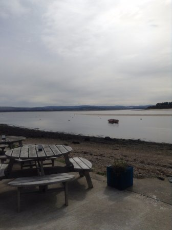Findhorn, UK: The view out the window where we sat.