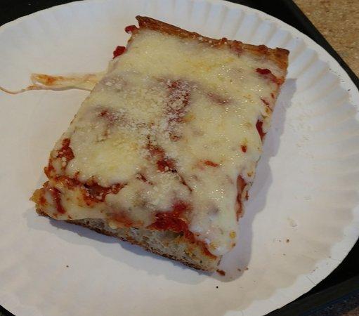 Wexford, PA: Sicilian Pizza slice
