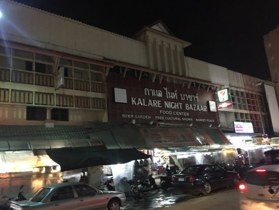 The Kalare Night Bazaar Signage from Opposite near Ploen Rudee Night Bazaar
