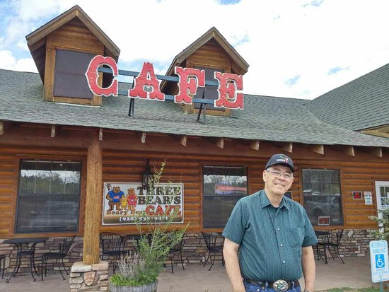 Heber, AZ: Three Bear's Cafe Front