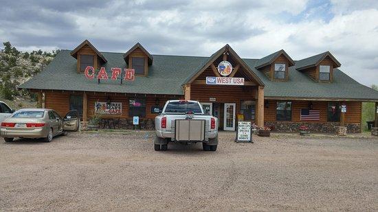 Heber, AZ: The Entrance at Three Bear's Cafe