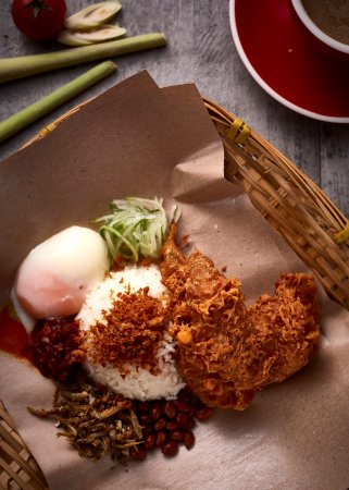 Crispy Crumbly Chicken Wing Rice Set