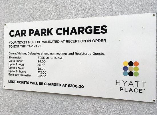Hyatt Place London Heathrow Airport: Car Park £200 fine for loss of ticket