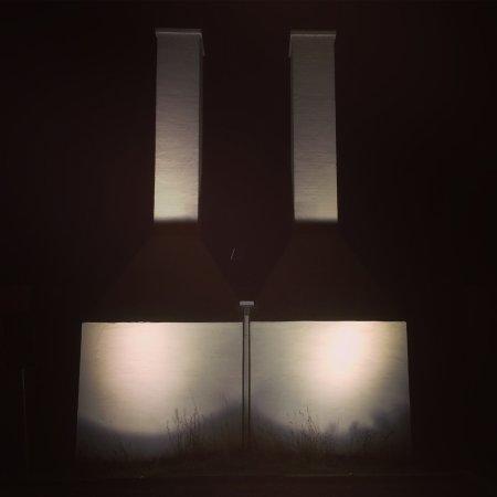 Skanor, السويد: smoke chimneys by night