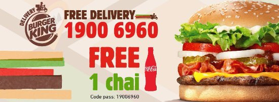 DELIVERY HOTLINE 19006960! ^^! - Picture of Burger King