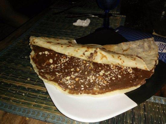 Anjuna, India: Nutella Crepe