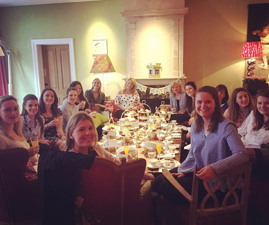 The Soho Hotel: All of us at my friend's baby shower having afternoon tea