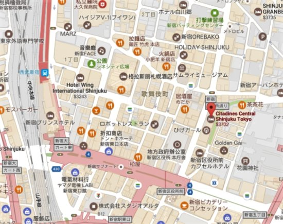 citadines central shinjuku tokyo how to get there