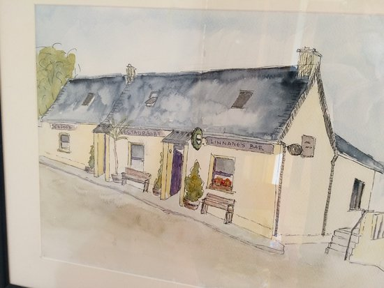 New Quay, Irlanda: Sketch of Linnane's, courtesy of my wife ...