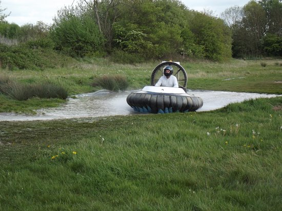 Paddock Wood, UK: One of two water barriers in the main track