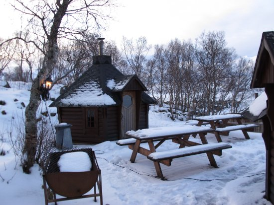 Laukvik, Noruega: Espace Sauna/barbeccue