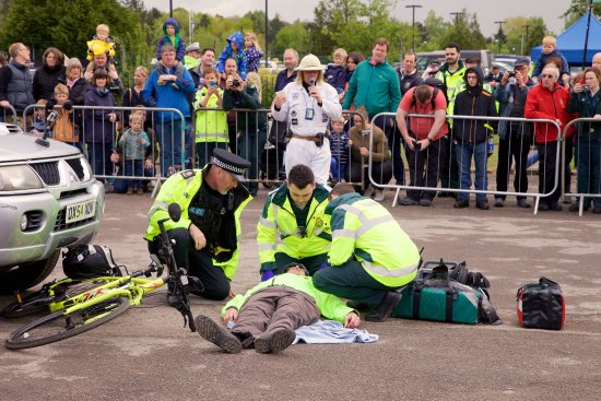 emergency services day at brooklands rta demonstration picture