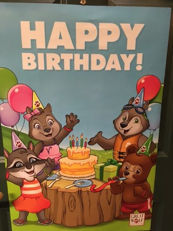 Great Wolf Lodge: Aubrey's birthday poster