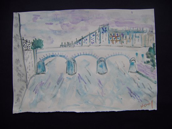 University of Limerick: On the way to the university from town is mathew bridge. This is a painting I painted recently