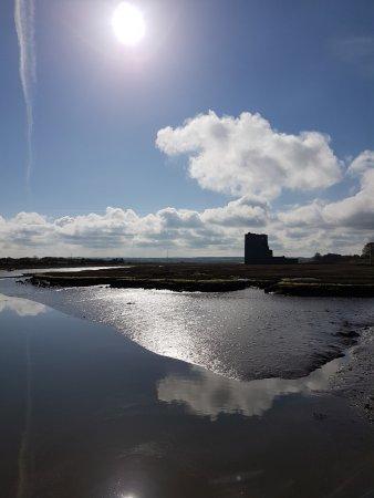 Ballylongford, Ireland: The castle taken from the island bridge