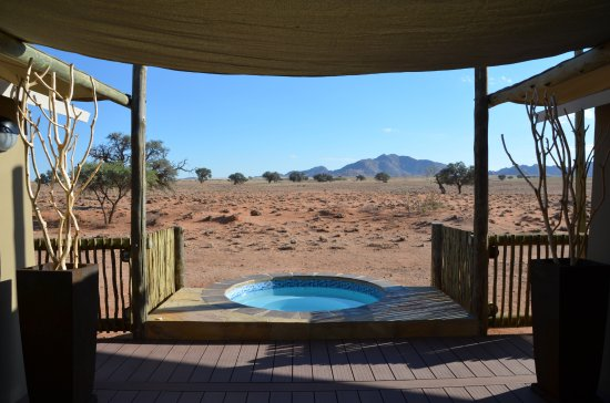 Sossusvlei Lodge: View from the living room of the suite