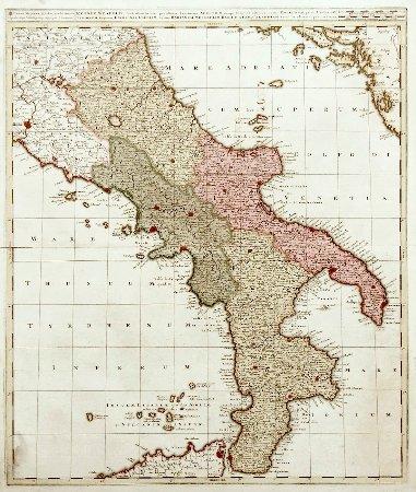 Italia Cartina Antica.Sud Italia Antica Mappa Del Settecento Picture Of Libreria Antiquaria Perini Verona Tripadvisor