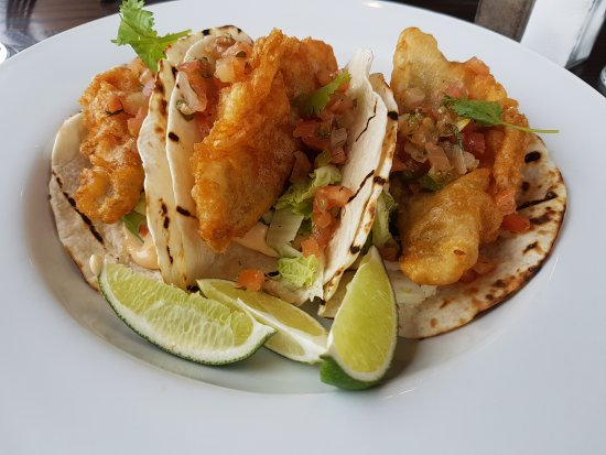 50cd7849 Fish Tacos and Smoked Salmon Linguine - Picture of Beach Street ...