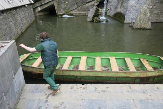Sougne-Remouchamps, Belgium: Boat after Emerging from Caves