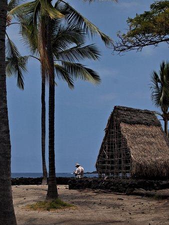 Temple model at Pu'uhonua O Honaunau