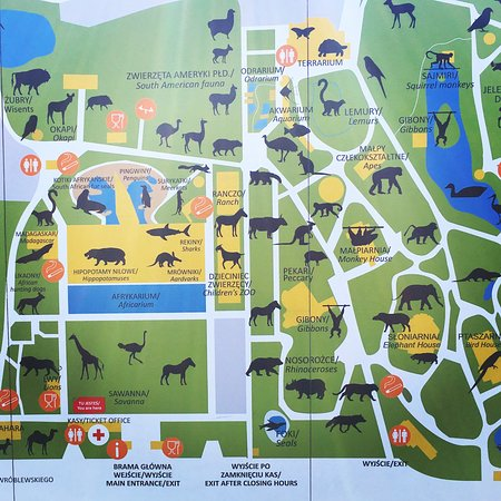 Map of the Zoo Picture of Wroclaw Zoo Afrykarium Wroclaw