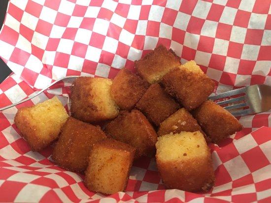 La Grange, KY: Fried cornbread appetizer.