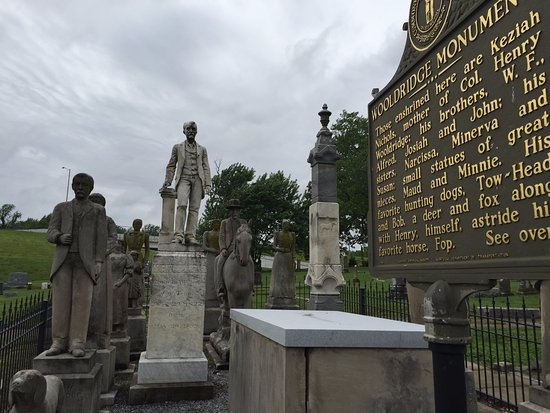 Mayfield, KY: A view of some of the Wooldridge Monuments