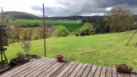 Berbiguieres, France: Vue de la chambre double