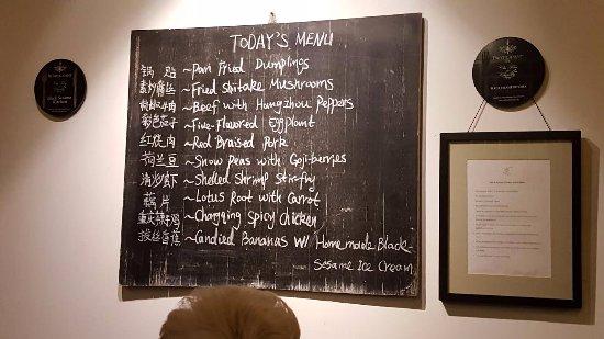 The menu, what a haul!