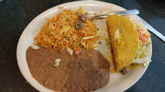 Garcia's Mexican Restaurant: one of two tacos remaining