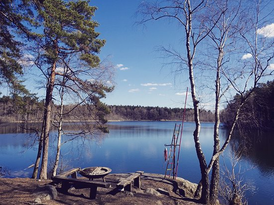 Bromma, Sweden: By the lake