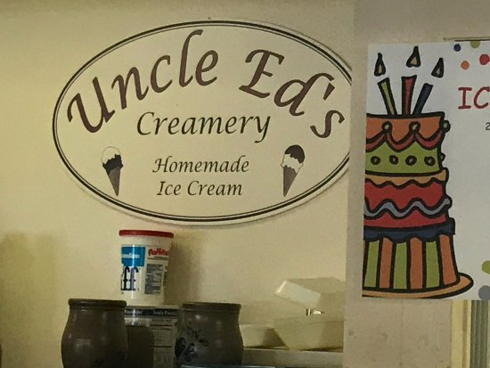 Uncle Ed's Creamery : Company sign