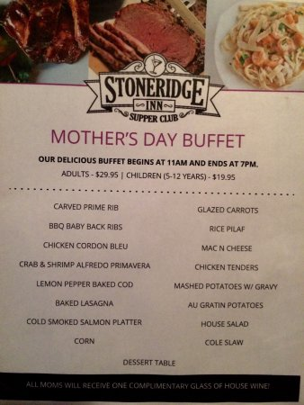 Hales Corners, WI: Join us for Mother's Day! Special menu with all our prime steaks, Alaskan king crab legs, lobste