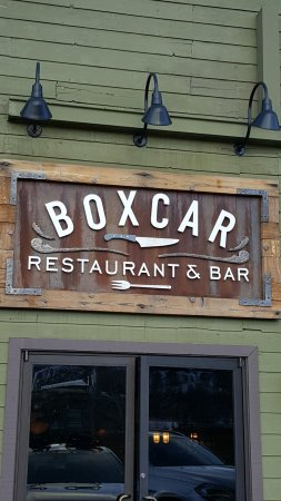 Boxcar Restaurant and Bar: entrance to restaurant