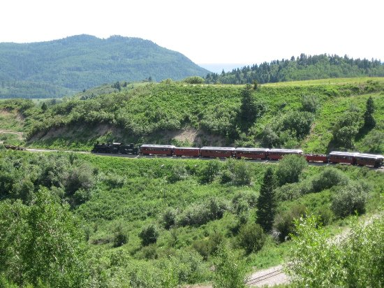 Cumbres & Toltec Scenic Railroad: Green is the predominant color in these mountains! Everywhere you look is beauty.