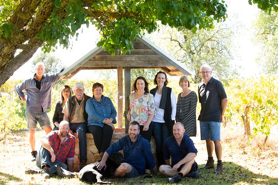 Barossa Valley, Australia: Rob and Anne Gibson with the team - 2017
