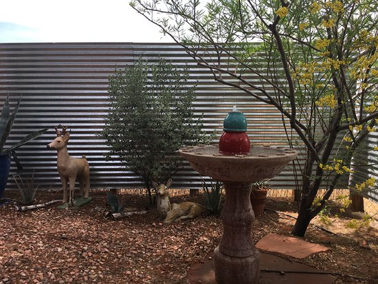 Spin and Margie's Desert Hideaway: Our private courtyard
