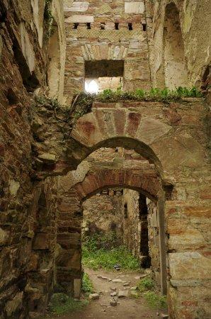 Inside Clifden Castle ruins.