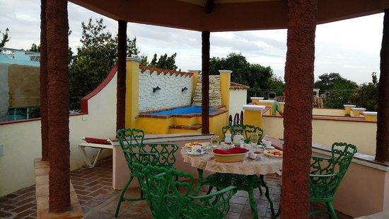 Hostal Las Margaritas: terraza en el techo
