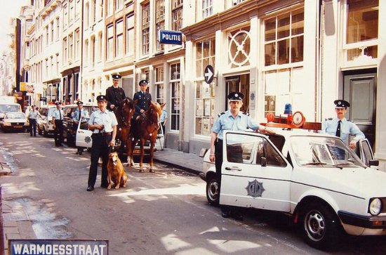 Amsterdam Red Light District Police...