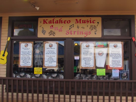 Kalaheo Music and Strings : Store Front facing Kaumualii Hwy.