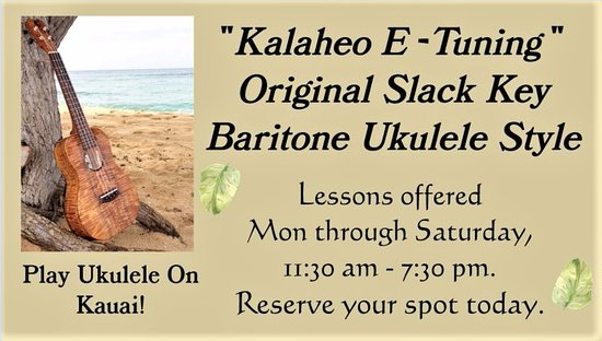 Kalaheo Music and Strings: Now offering Baritone Slack Key Style